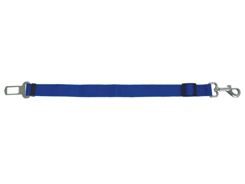 Autogordel hond 76cm blauw