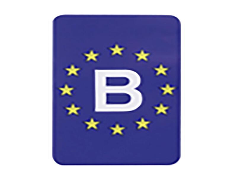 Carpoint Autosticker Europa-België 9x11 cm