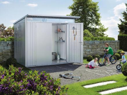 Biohort AvantGarde A5 abri de jardin 260x218x220 cm métal argent