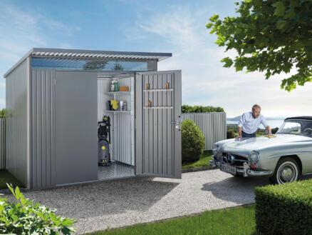 Biohort AvantGarde A5 abri de jardin 260x218x220 cm métal gris quartz