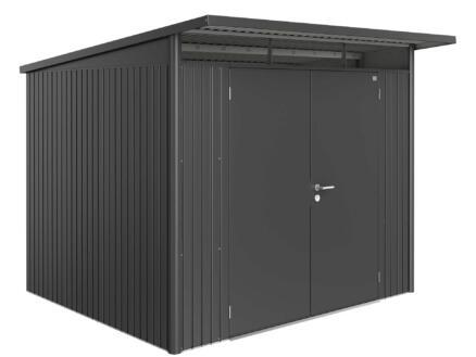Biohort AvantGarde A6 tuinhuis 260x218x260 cm donkergrijs metaal met dubbele deur