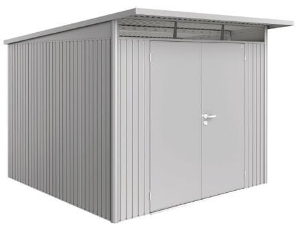 Biohort AvantGarde A7 tuinhuis 260x217x300 cm zilver metaal met dubbele deur