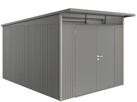 Biohort AvantGarde A8 abri de jardin 260x220x380 cm métal porte double gris quartz