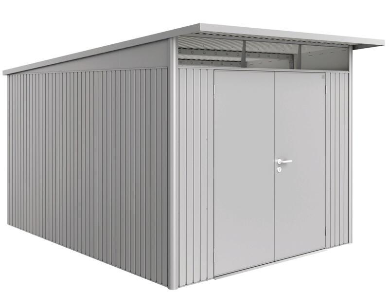 Biohort AvantGarde A8 tuinhuis 260x220x380 cm zilver metaal met dubbele deur