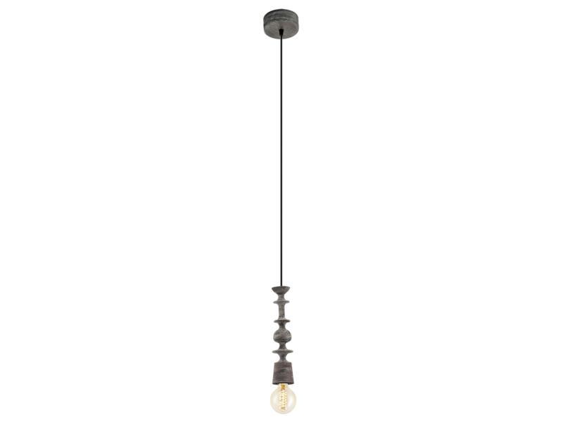 Eglo Avoltri hanglamp E27 max. 60W zwart/bruin