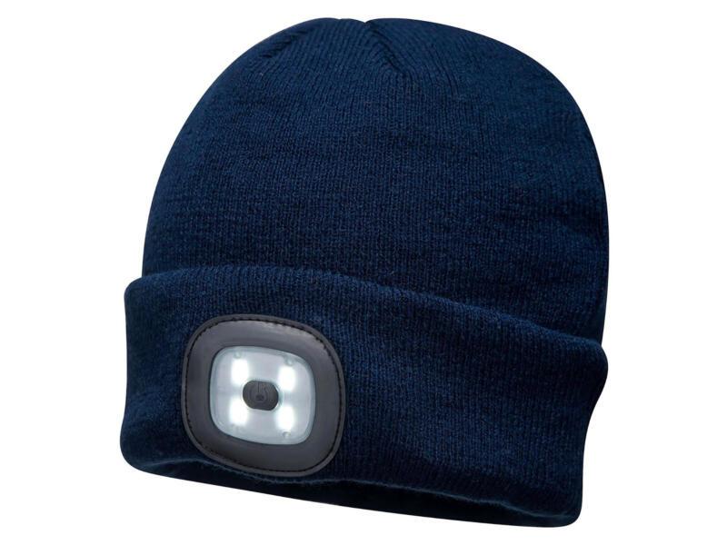 B029 bonnet LED rechargeable bleu