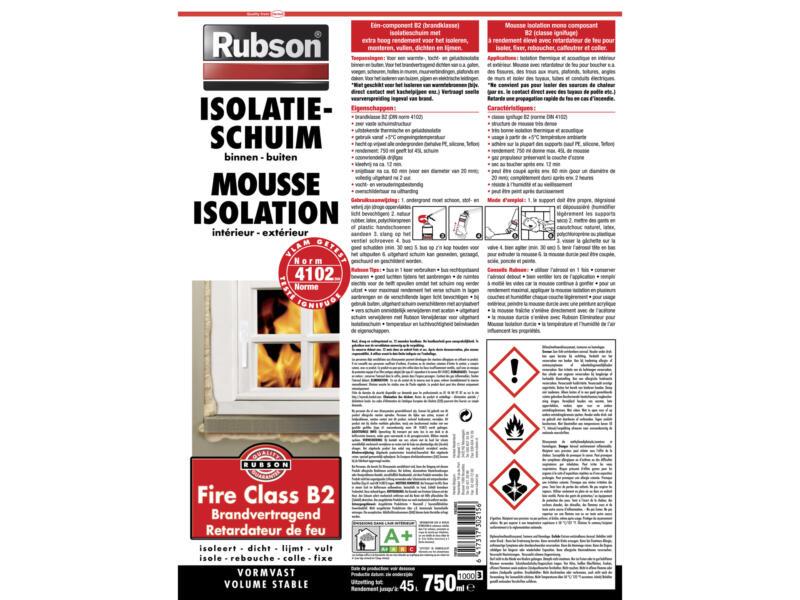 Rubson B2 mousse isolante ignifuge 750ml