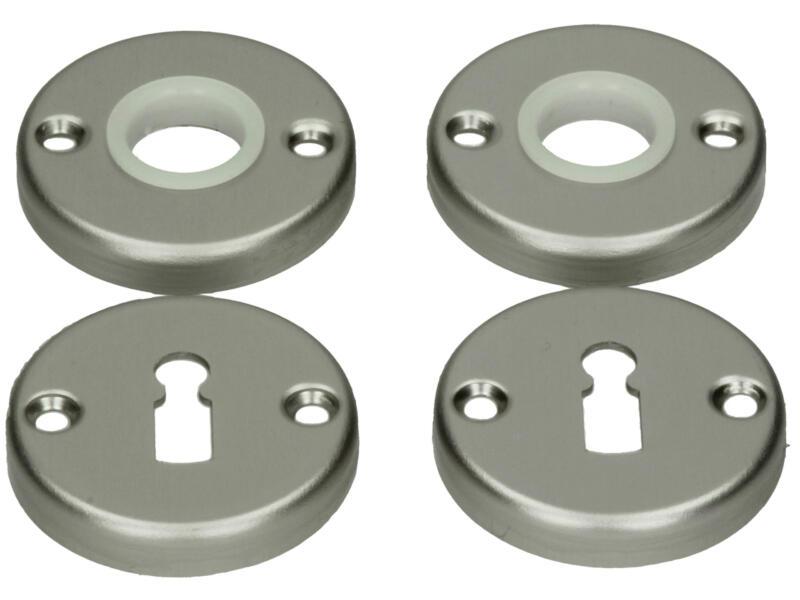 Yale BB klink- en sleutelrozetset 52mm aluminium