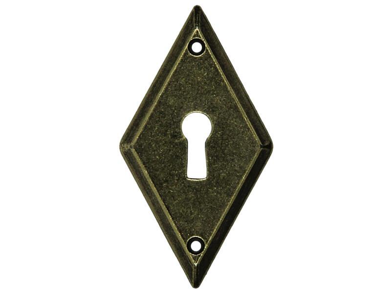 Sam BB sleutelplaat 34x63 mm ruit brons