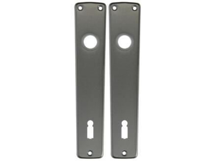 Yale BB110 plaque poignée de porte aluminium 2 pièces