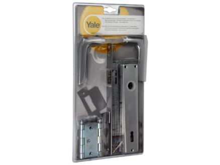 Yale BB110 quincaillerie de porte set complet avec plaques aluminium