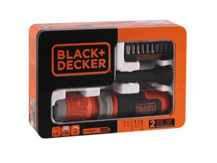 Black+Decker BCF603C-QW tournevis sans fil 3,6V Li-Ion + set d'embouts