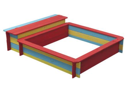 Bac à sable Jade avec bac de rangement 150x120 cm coloré