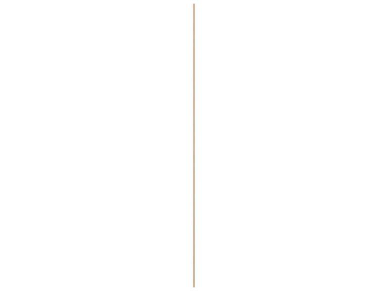 Baguette ronde 18mm 240cm bois dur blanc