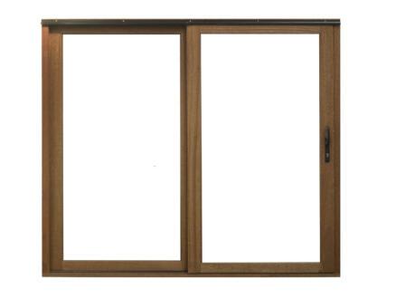 Baie vitrée coulissante 240x210 cm bois