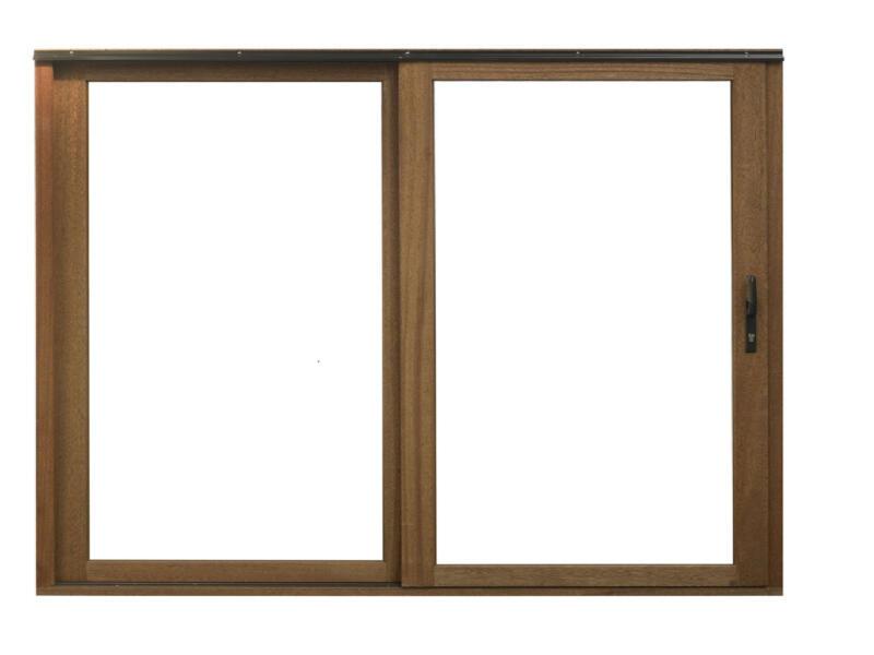 Baie vitrée coulissante 300x210 cm bois