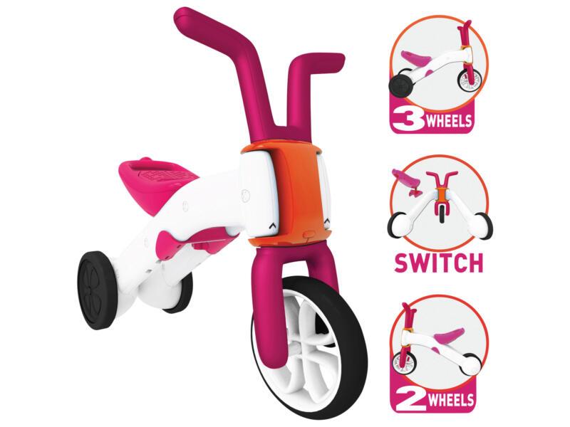 Balance Bike Bunzi loopfiets 2-in-1 roze