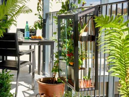 Royal well Balcony Garden balkonserre veiligheidsglas zwart