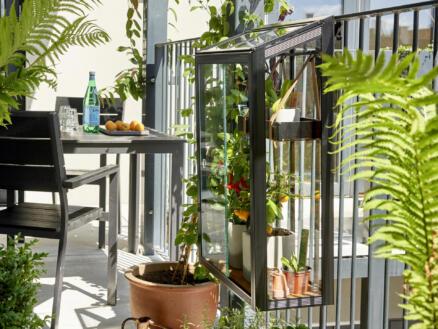 Royal well Balcony Garden serre de balcon verre de sécurité noir