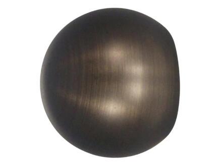 Ball eindknop gordijnroede 25mm brons 2 stuks
