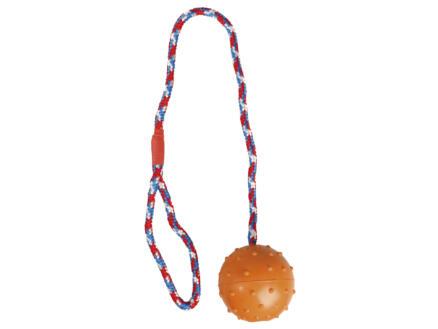 Flamingo Balle avec cloche et corde 7cm caoutchouc