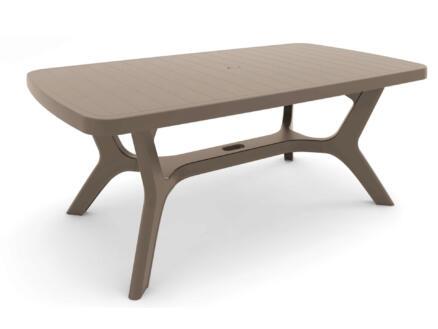 Allibert Baltimore table de jardin 177x100 cm cappuccino