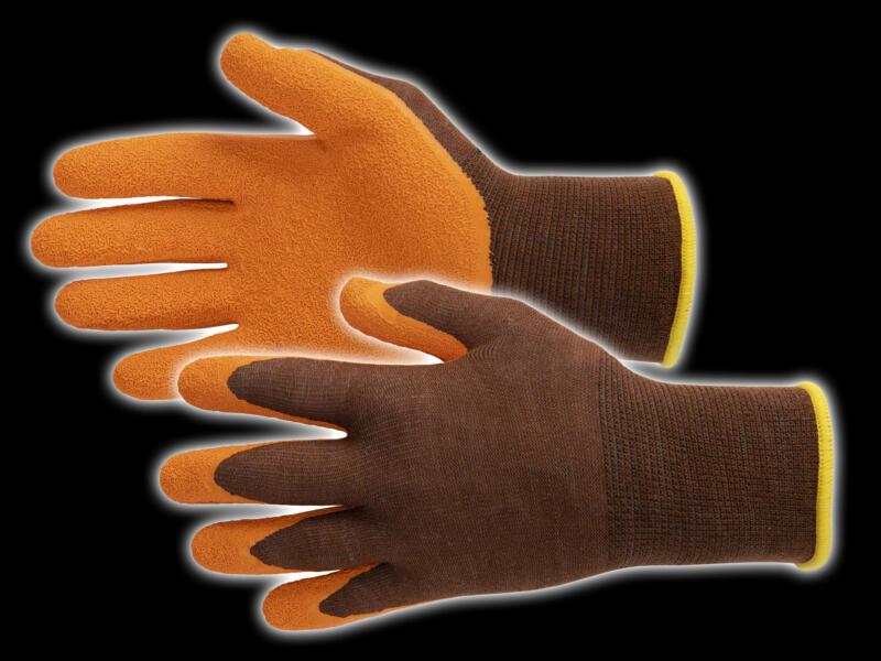 Busters Bamboo Garden Heavy gants de jardinage 7 polymère orange