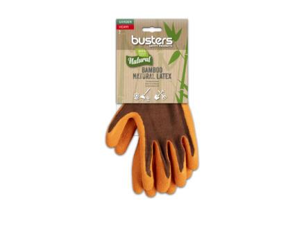 Busters Bamboo Garden Heavy tuinhandschoenen 7 polymeer oranje