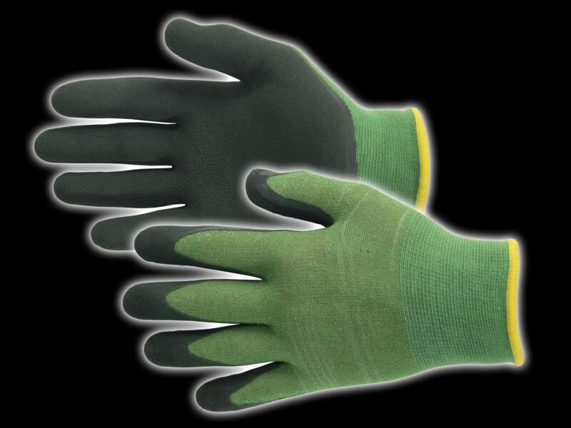Busters Bamboo Garden Light gants de jardinage 7 polymère vert