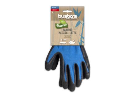 Busters Bamboo Work Heavy gants de travail 9 polymère bleu