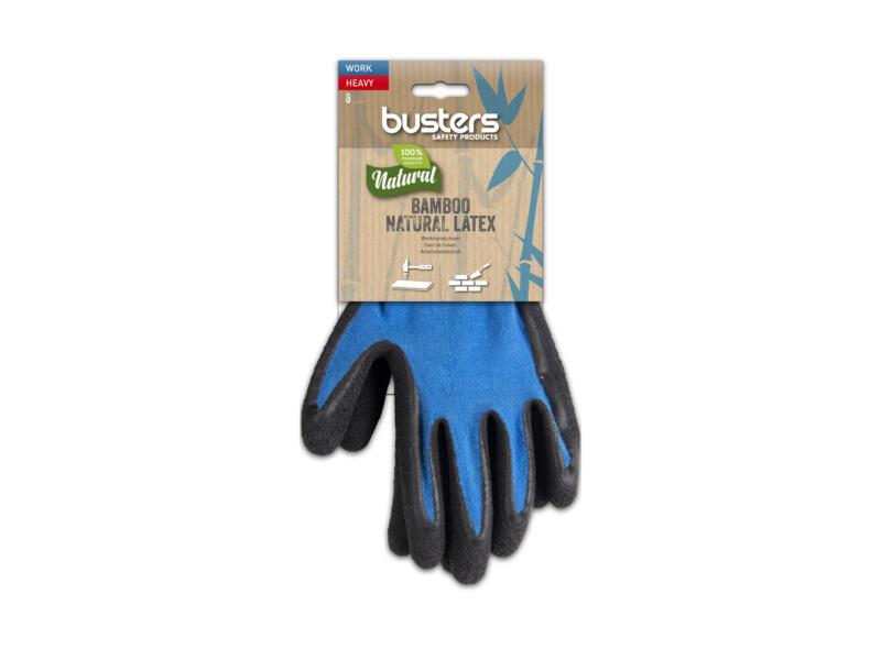 Busters Bamboo Work Heavy werkhandschoenen 8 polymeer blauw
