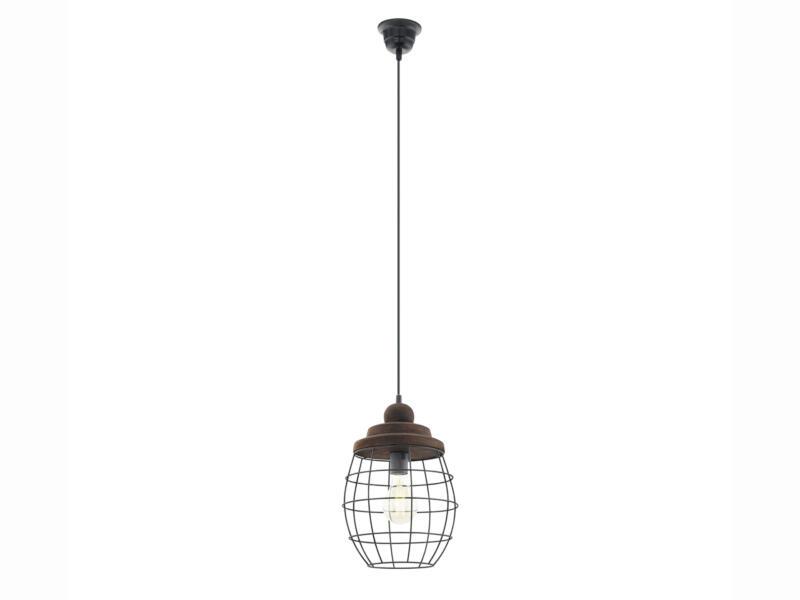 Eglo Bampton hanglamp E27 max. 60W zwart/bruin