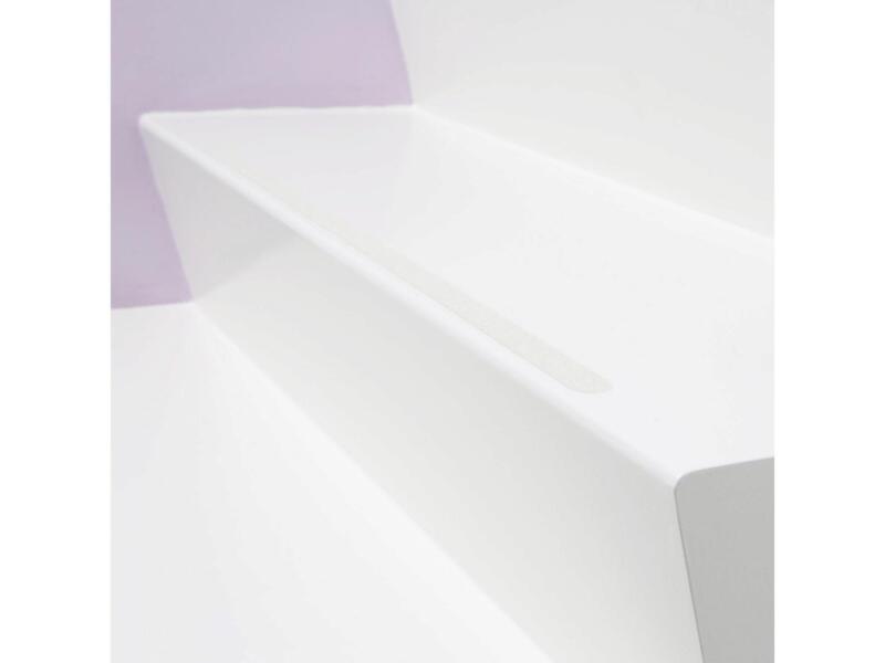 Bande adhésive antidérapante 600x19 mm long blanc 15 pièces