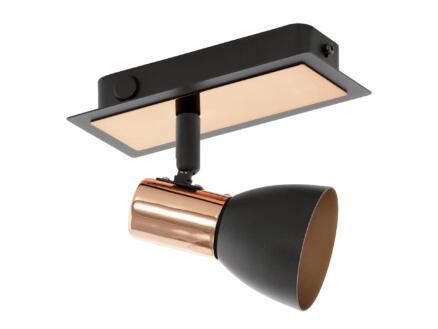 Eglo Barnham spot de plafond LED GU10 3,3W noir/rosé or
