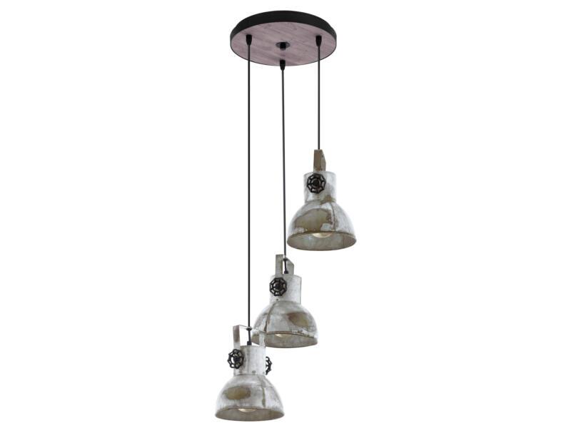 Eglo Barnstaple hanglamp E27 max. 3x40 W zink