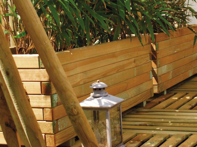 Barok bloembak 110x50x38 cm hout