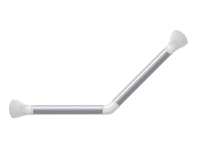 Barre de maintien 45˚ blanc mat