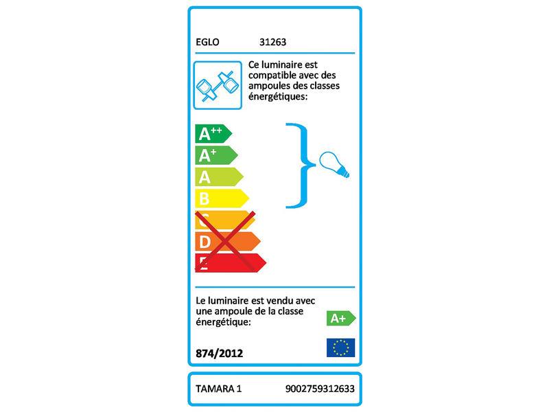 Eglo Barre de spots Tamara 1 GU10 3x3W acier nickel