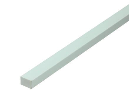 Arcansas Barre rectangle 1m 10x15 mm PVC blanc