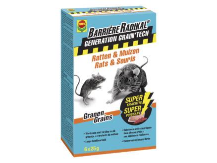 Compo Barrière Radikal Generation Grain'Tech tegen ratten en muizen 6x25 g