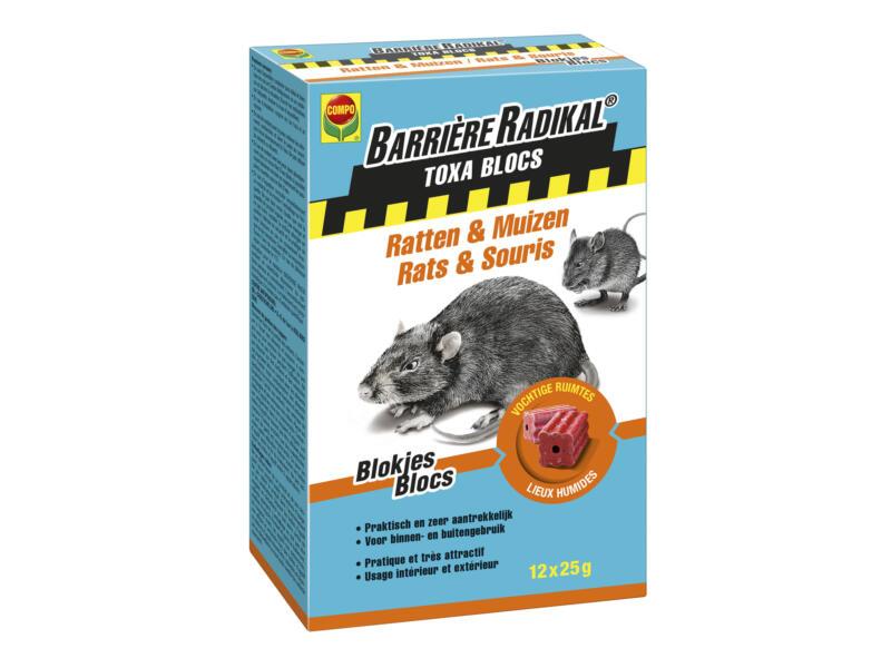 Compo Barrière Radikal Toxa Blocs tegen ratten en muizen