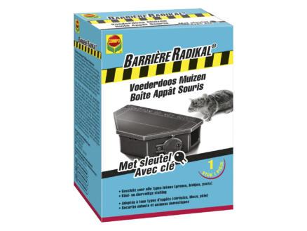 Compo Barrière Radikal boîte à appat souris + clé