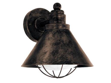 Eglo Barrosela wandlamp E27 max. 40W zwart/koper