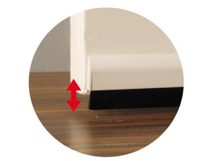 Confortex Bas de porte avec brosse réglable autoadhésif 1m 6,5cm blanc