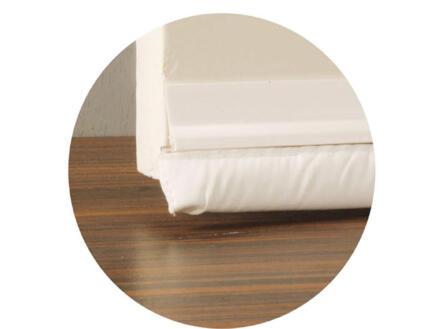 Confortex Bas de porte avec textile autoadhésif 1m 6,5cm blanc