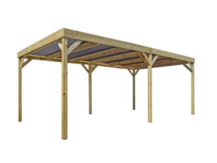 Base carport 300x540 cm hout