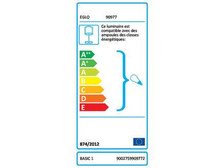Eglo Basic lampe de bureau E27 40W argent