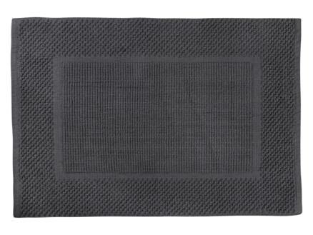 Differnz Basics tapis de bain 80x50 cm gris foncé