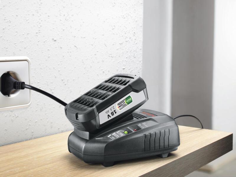 Bosch Batterie 18V Li-Ion 2,5Ah + chargeur