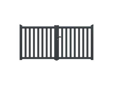 Baza portail battant 300x140 cm anthracite